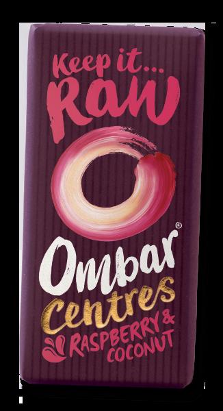 Bilde av Kokos & Bringebærfyll 60% , 35 g rå og økologisk sjokolade / Omb