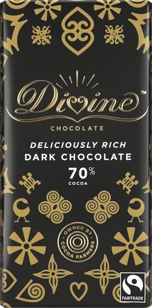 Bilde av Mørk sjokolade 70%, 90g / Divine