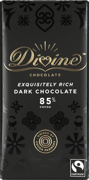Bilde av Mørk sjokolade 85%, 90g / Divine