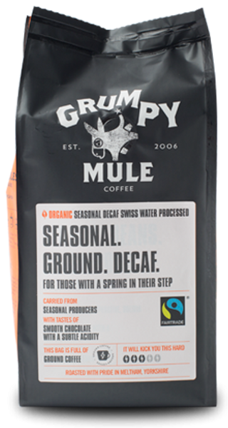 Bilde av Seasonal DECAF 227g malt kaffe / Grumpy Mule