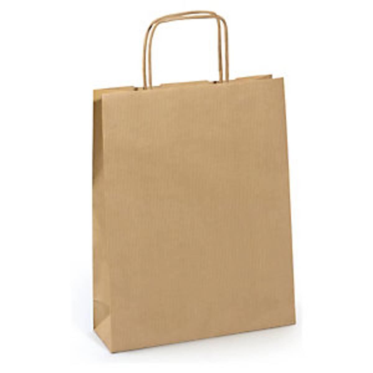 Stor papirpose 32x39x17cm,tvunnet håndtak  / Rajapak