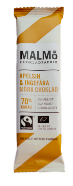 Bilde av Mini Appelsin & Ingefær 70% 25g / Malmö Chokladfabrik