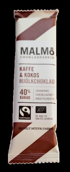Bilde av Mini Kaffe & Kokos 37% 25 g - økologisk sjokolade fra Malmö Chok