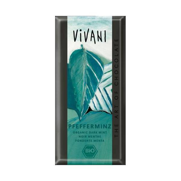 Bilde av Mørk sjokolade med peppermyntefyll 100g / Vivani