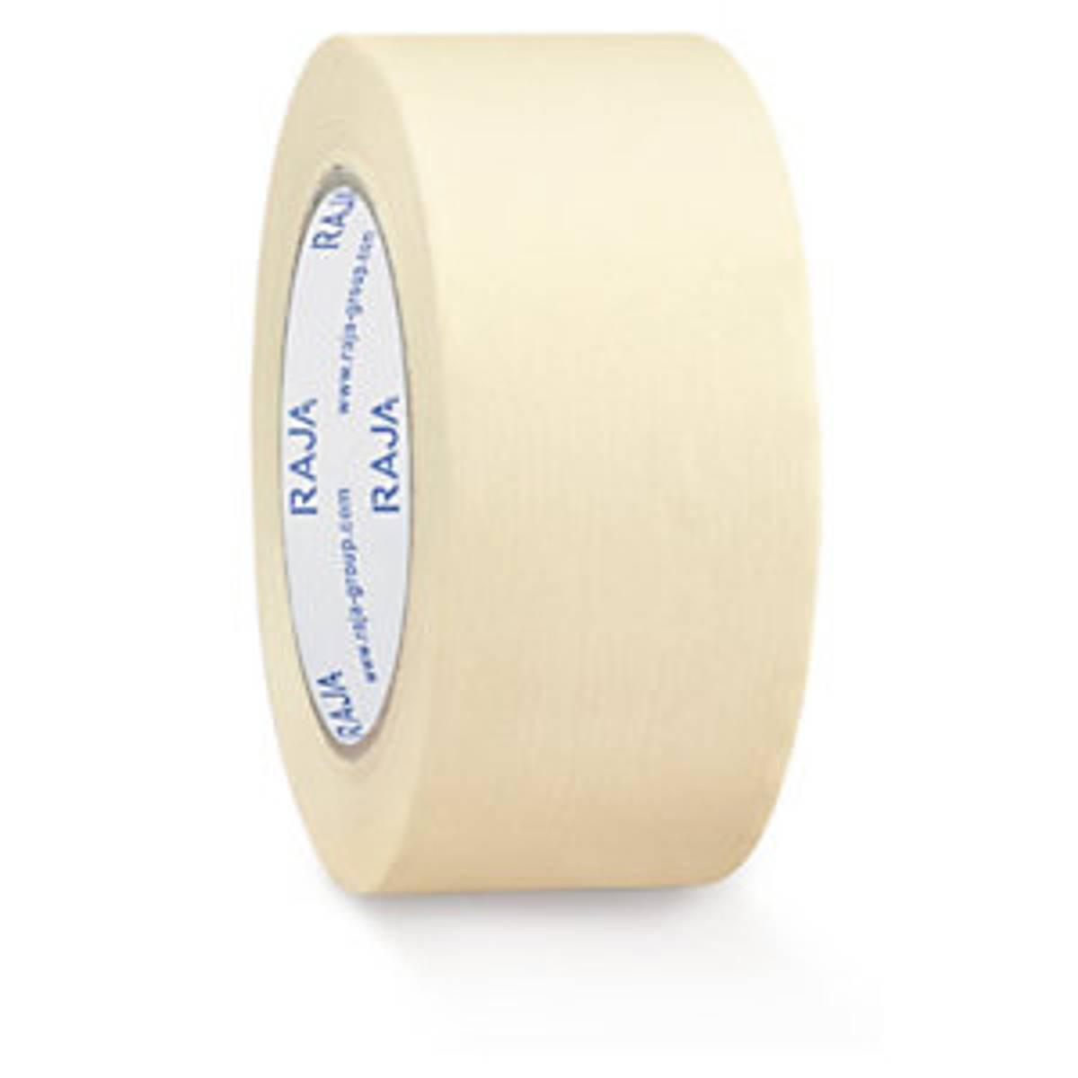 Hvit papirteip 50mm x 50 m / RajaPack