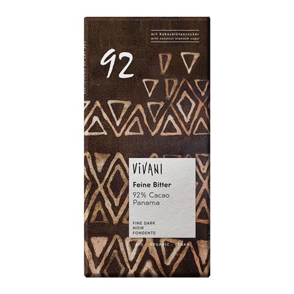 Bilde av 92% mørk sjokolade 80 g / Vivani