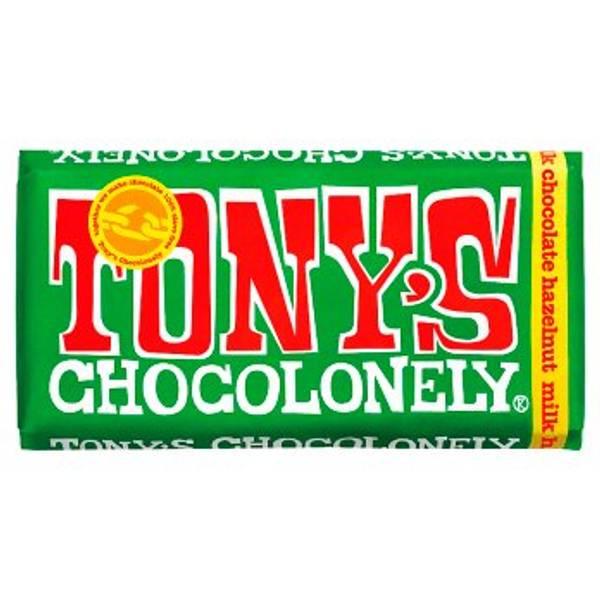 Bilde av Hasselnøtt melkesjokolade 180g, Fair Trade / Tony´s Chocolon