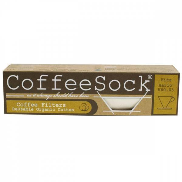 Bilde av CoffeeSock® 2-pk kaffefilter Hario V60-03 økologisk bomull
