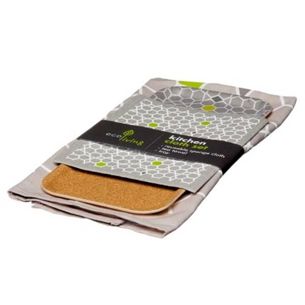 Bilde av Kjøkkensett: klut, kjøkkenhåndkle & brett / ecoLiving