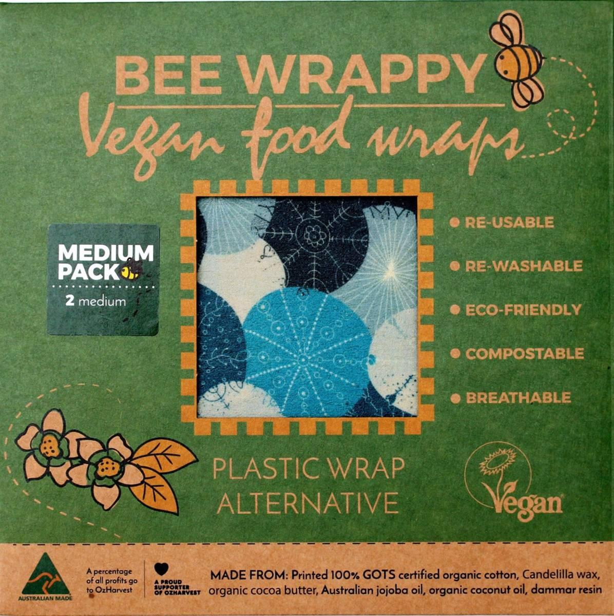 2-pk M veganske voksark Bee Wrappy