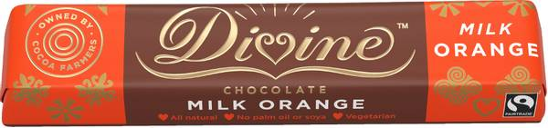 Bilde av Appelsin melkesjokolade 35g / Divine