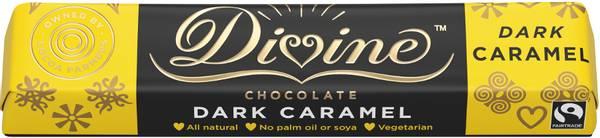 Bilde av Karamell mørk sjokolade 35 g / Divine