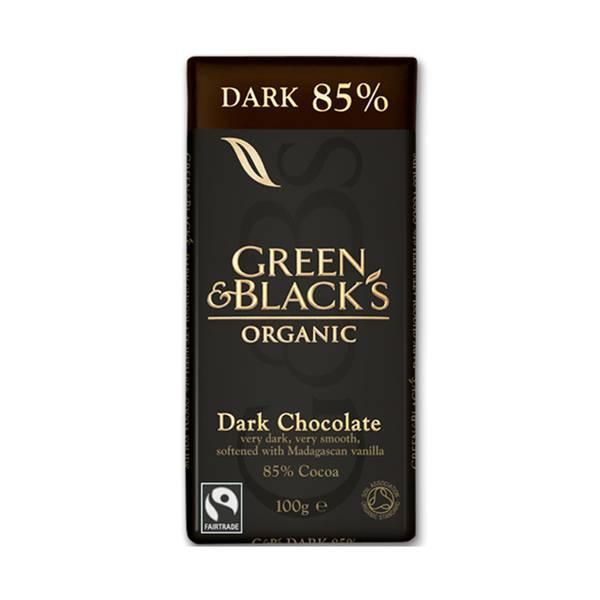 Bilde av 85% mørk sjokolade, 90g / Green & Black's