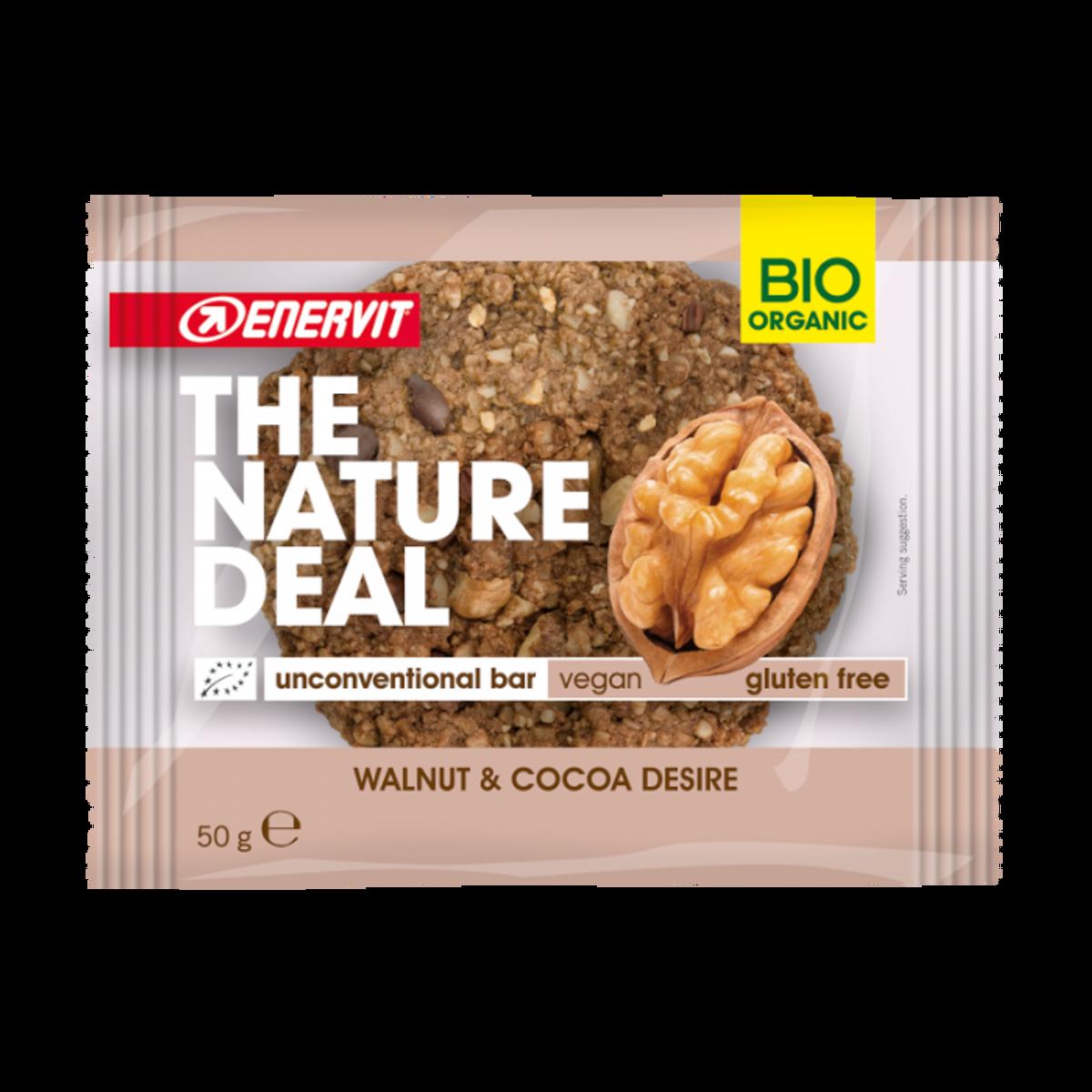 Økologisk cookie med valnøtt og kakao 50g / Enervit - The Natura