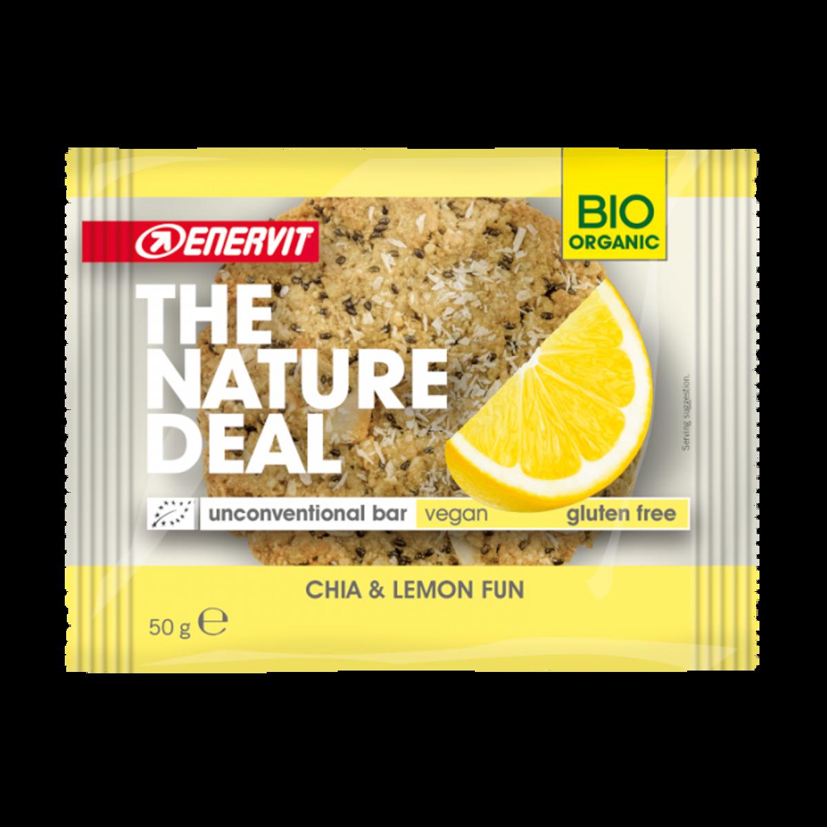 Økologisk cookie med chia og sitron 50g / Enervit - The Natural