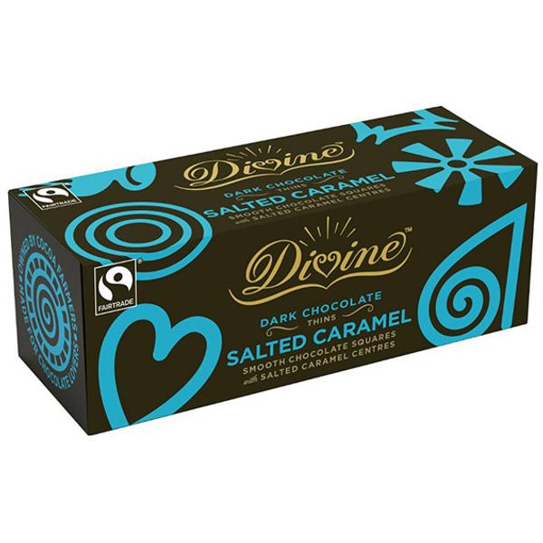 Bilde av Mørk sjokolade med salt karamellfyll 200g / Divine