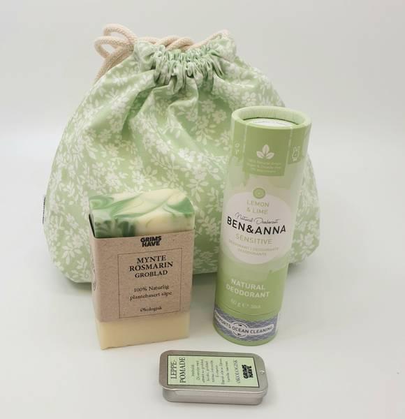 Bilde av Gavesett: våtpose, deodorant, leppepomade og såpe / Beeorganic