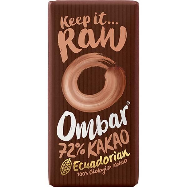 Bilde av Probiotic Dark 72%, 70 g rå og økologisk sjokolade / Ombar