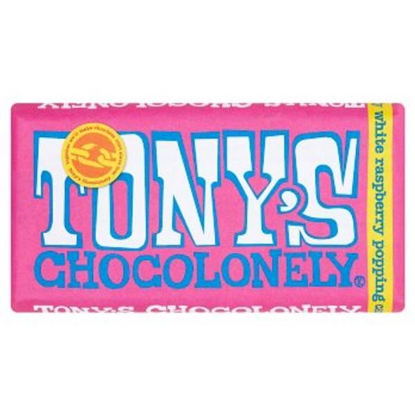 Bilde av Hvit melkesjokolade White Raspberry Popping Candy 180g / Tony´s
