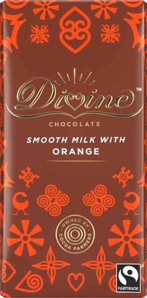 Bilde av Melkesjokolade med appelsin 90g / Divine