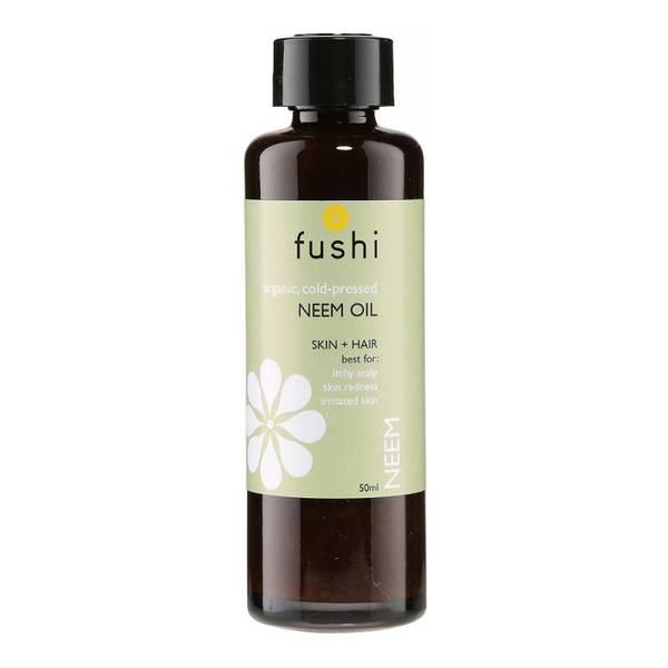 Bilde av Fushi kaldpresset neemolje 50 ml, i glassflaske