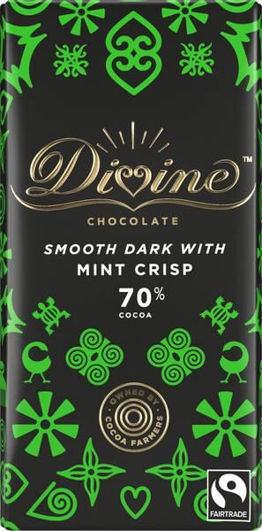 Bilde av Mørk sjokolade med mintkrisp 90g / Divine