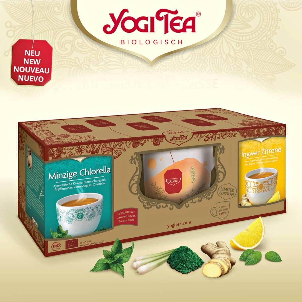Gavesett med tekopp og te / Yogi Tea