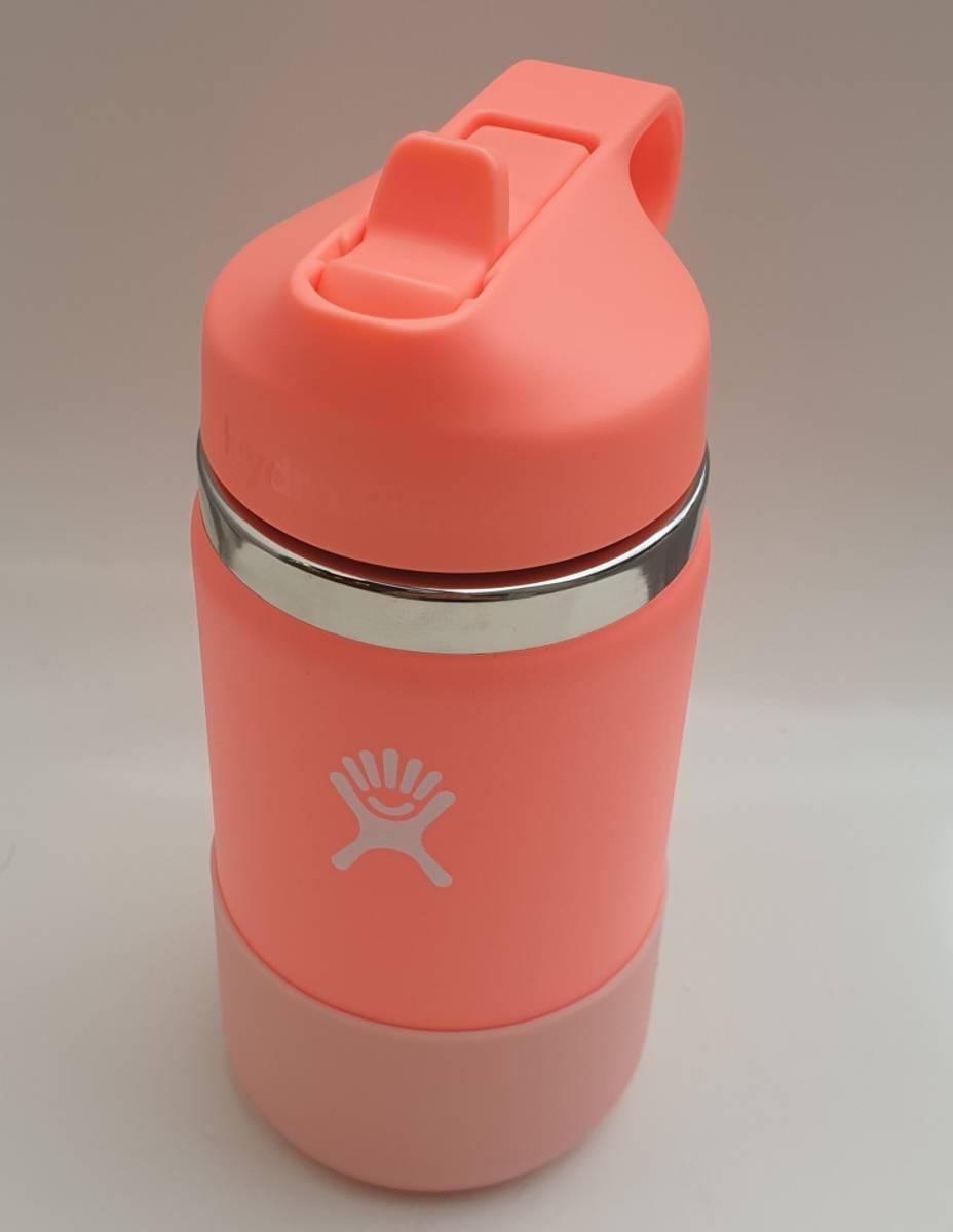 Termoflaske barn, HIBISCUS 355ml, Wide Mouth Straw Lid / Hydro F