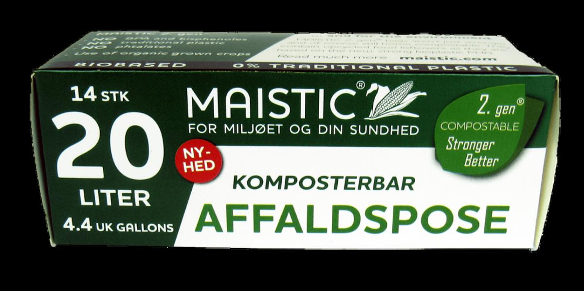 Plastfrie søppelposer 20L, Maistic