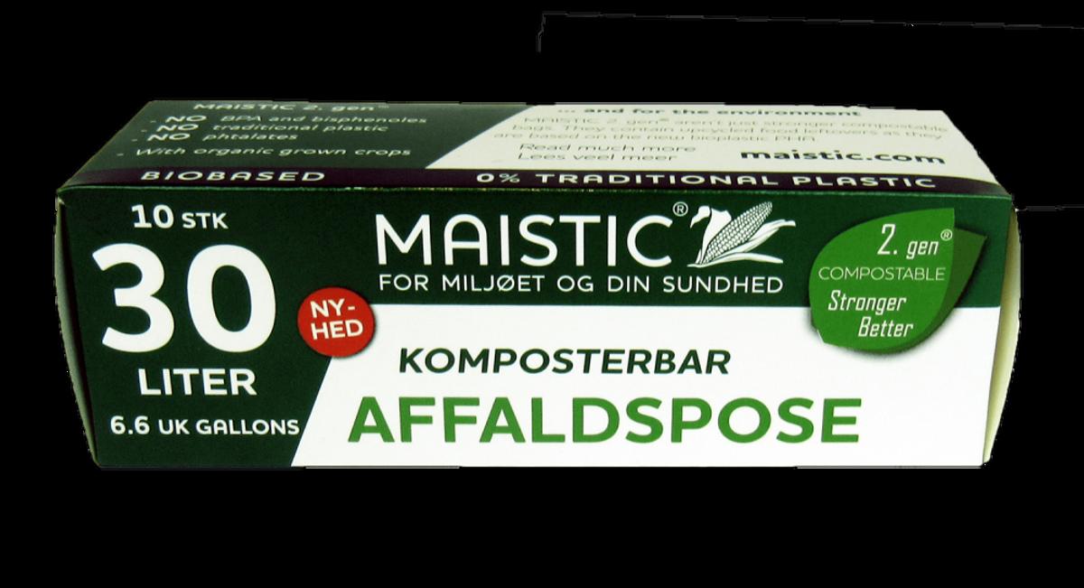 Plastfrie søppelposer 30L, Maistic