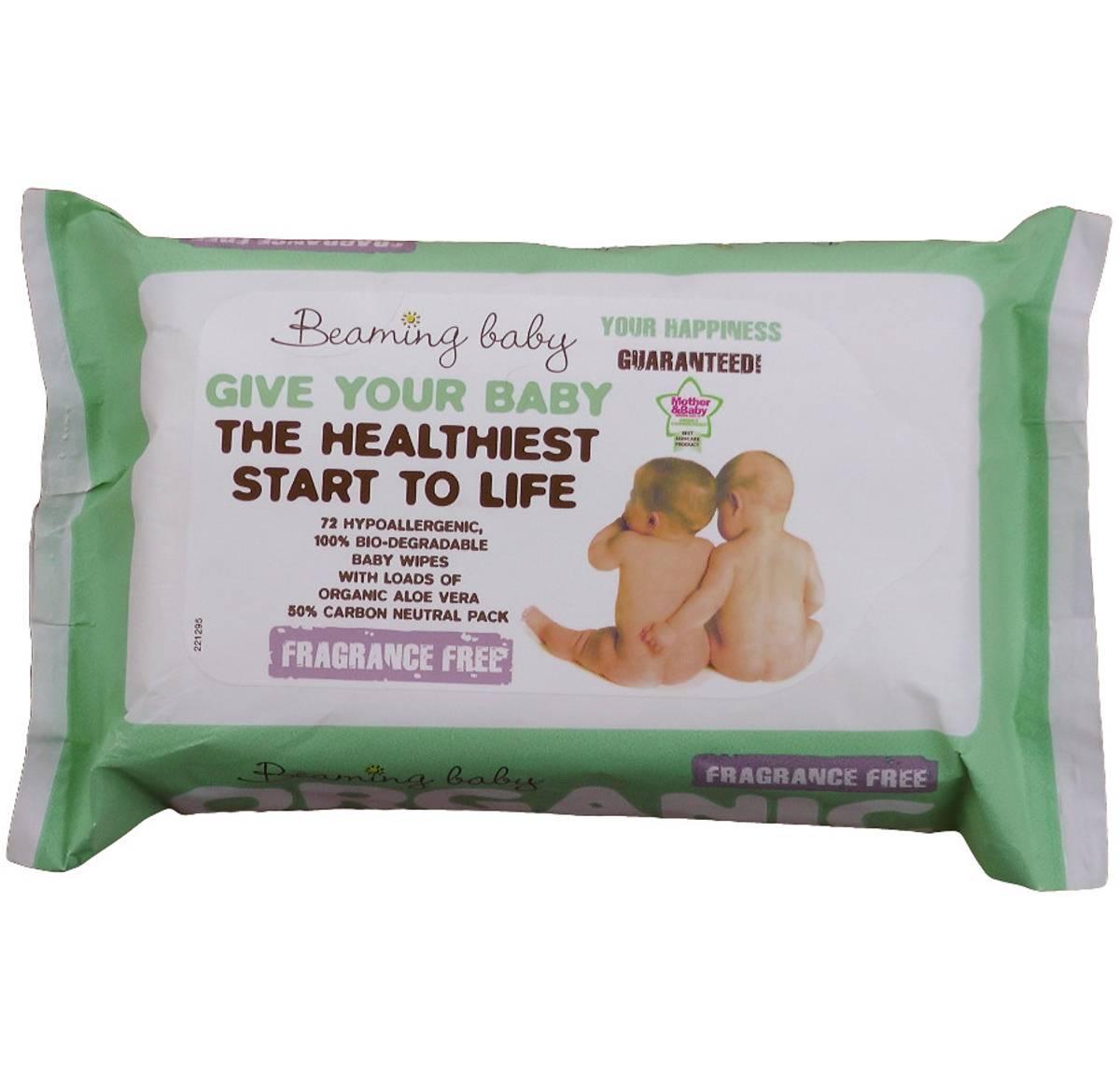 72 stk økologiske våtservietter / duftfrie / Beaming Baby