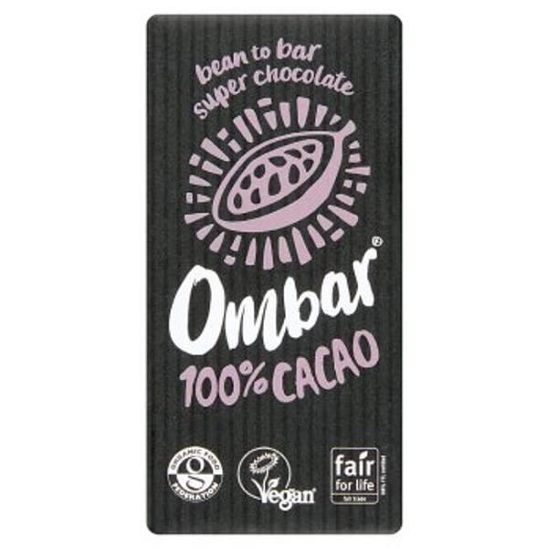Bilde av 100% mørk sjokolade 35g / Ombar
