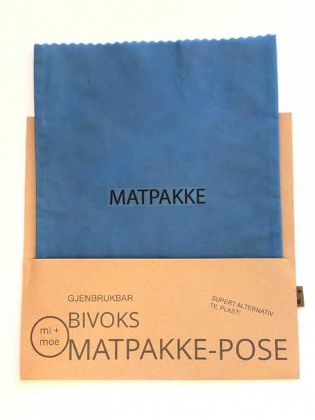 Bilde av Matpakkepose, Blå / Mi + Moe