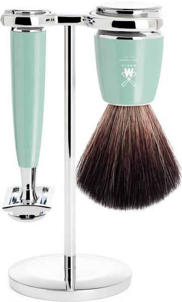 Bilde av Mühle vegansk barbersett med stativ, høvel og kost MINT