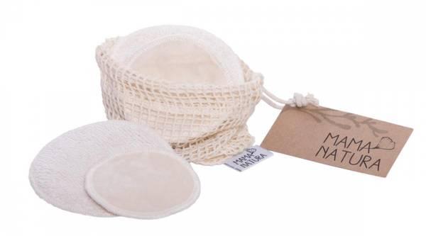 Bilde av 6-pk bomullpads med vaskepose // økologisk
