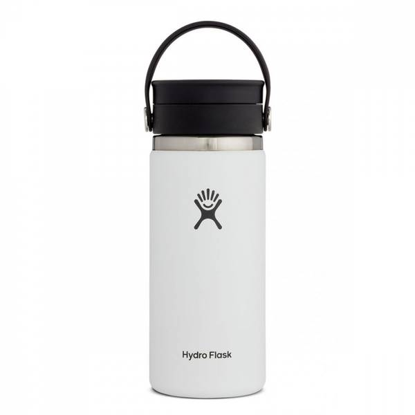Bilde av Termokopp 473ml, WHITE, Wide Mouth Flex Sip Lid / Hydro Flask