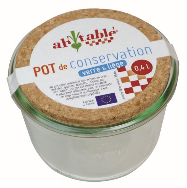 Bilde av 0.4L oppbevaringsglass med korklokk / Ahtablé
