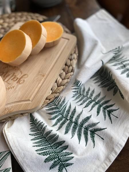 Bilde av Kjøkkenhåndkle i økologisk bomull, FERN / Your Green Kitchen