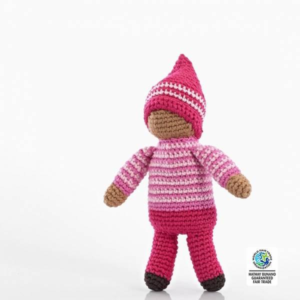 Bilde av Heklet dukke Pixie Rose / Fairtrade