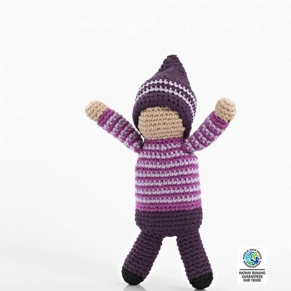 Bilde av Heklet dukke Pixie Violet / Fairtrade