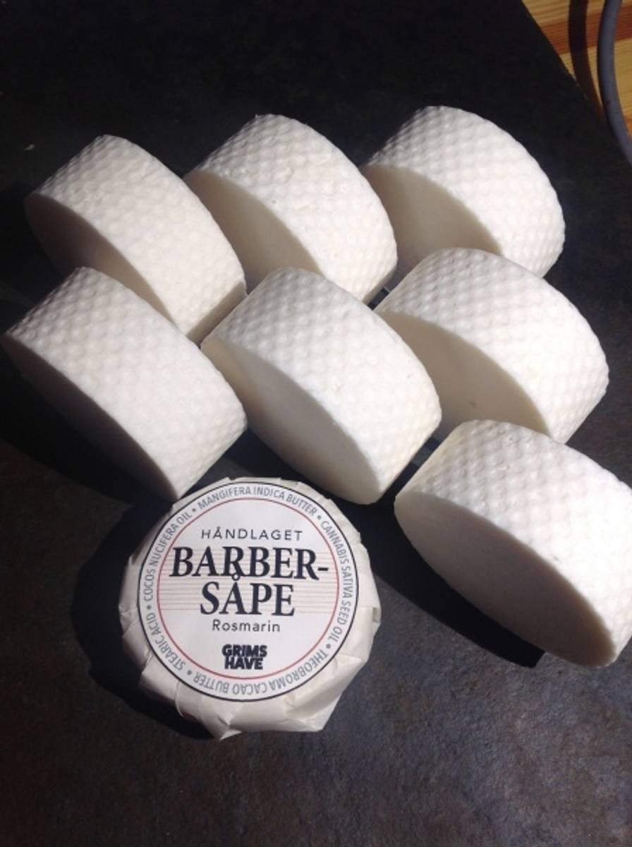 Barbersåpe duftfri økologisk, 80g / Grims Have