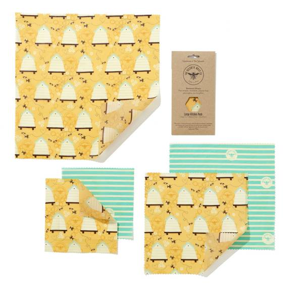 Bilde av 5-pk bivoksark Large kitchen pack // Beehive / The Beeswax Wrap