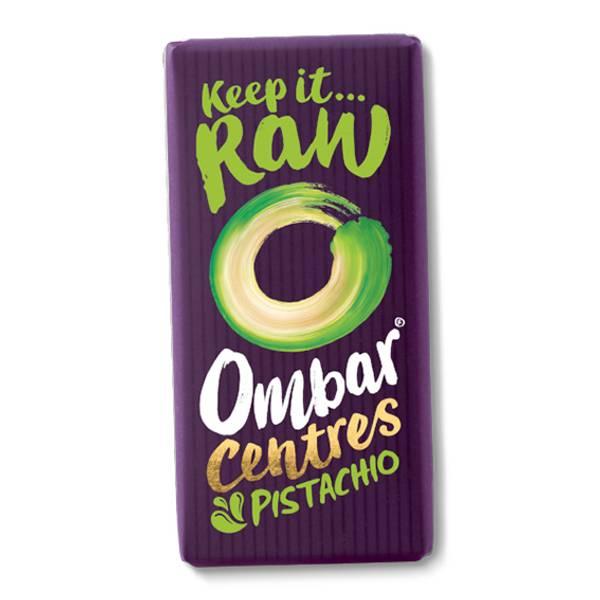 Bilde av Pistachio Centres, 70 g rå og økologisk sjokolade / Ombar