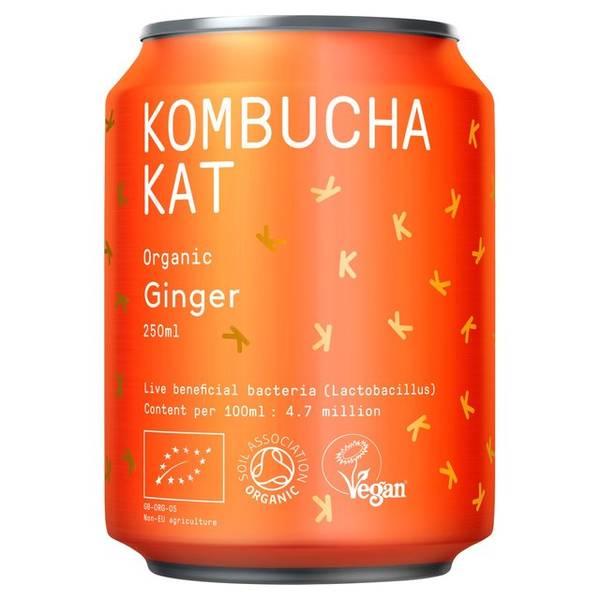 Bilde av Kombucha Organic Ginger 250 ml / Kombucha Kat