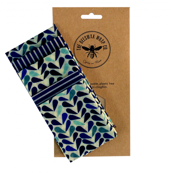 Bilde av 5-pk bivoksark Large kitchen pack // Dewdrop / The Beeswax Wrap