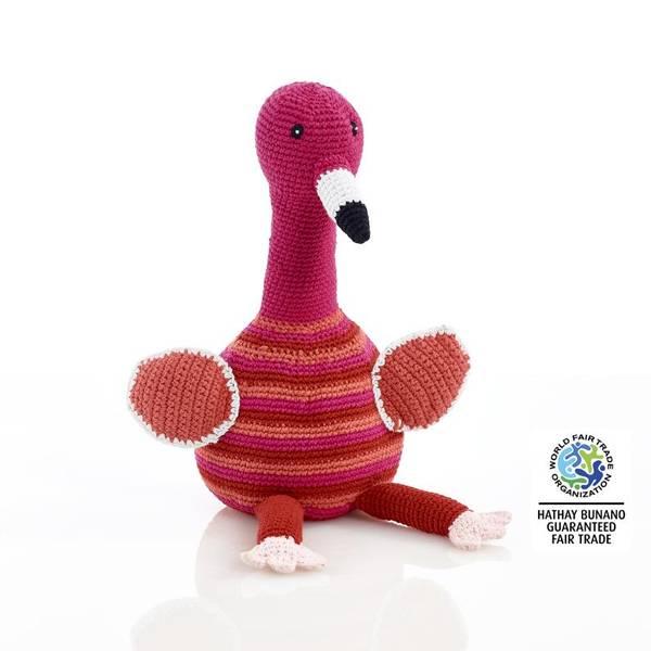 Bilde av Heklet Flamingo / håndlaget og Fairtrade