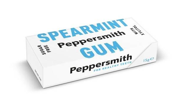 Bilde av 10 stk naturlig tyggis med spearmint  / Peppersmith