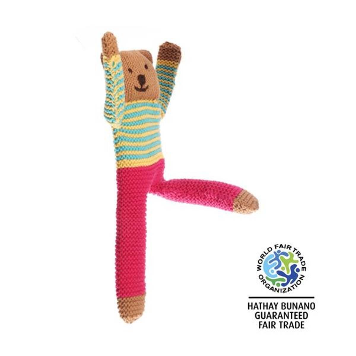 Heklet teddybjørn Nancy Flipp / håndlaget og Fairtrade