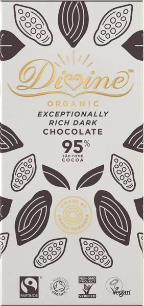Bilde av 95% mørk sjokolade, Exceptionally Rich Dark 80g  / Divine