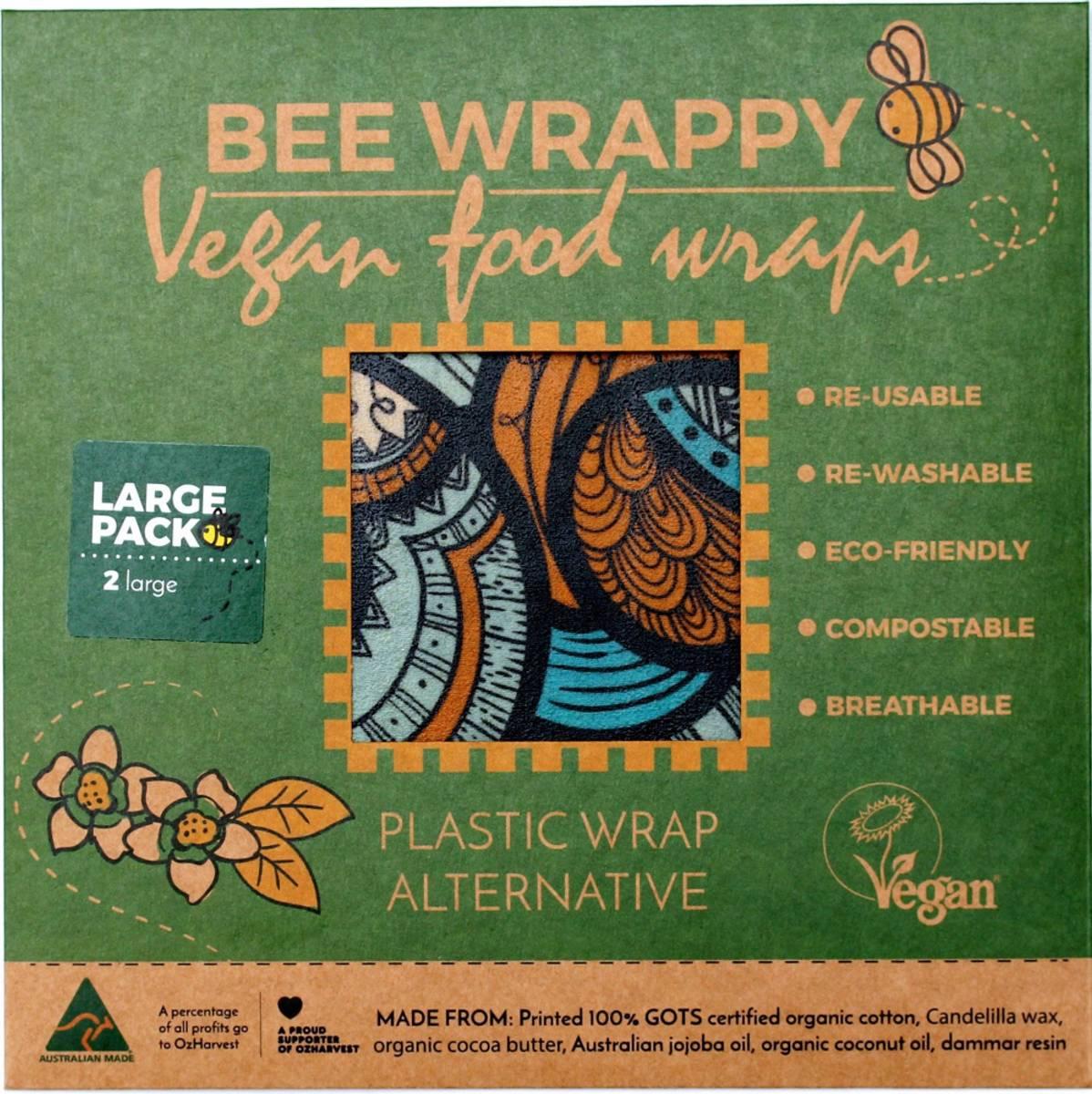 2-pk L veganske voksark Bee Wrappy